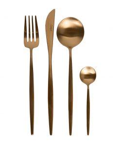 Cutipol - Moon Cutlery Set - 24 Piece - Matt Copper