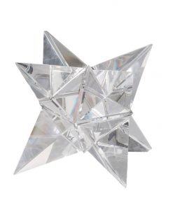 Norwich Crystal Glass Ornament, Star Tetrahedron, Small