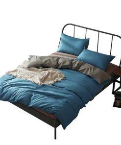 1000TC Microfibre Reversible Duvet Cover Pillow Case Set in Queen Size