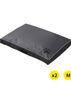 2x Pet Bed Mattress Dog Cat Pad Mat Summer Winter Cushion Pillow M Black