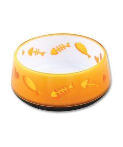 300ml Orange Love Cat Bowl - AFP Kitten Pet Food