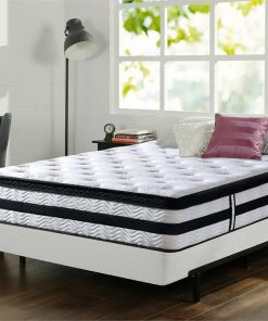 35CM Thick Euro Top Egg Crate Foam Mattress in Queen Size