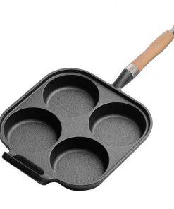 4 Mold Cast Iron Breakfast Fried Egg Pancake Omelette Non-stick Fry Pan