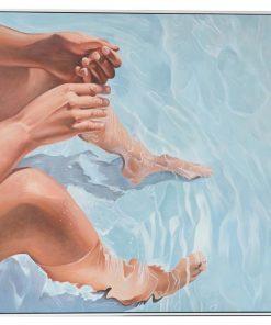 """Beach Life"" Framed Hand Painted Canvas Wall Art, No.1, 103cm"
