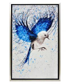 """""""Birds Of Flight"""" Framed Enhanced Canvas Wall Art Print, 85cm"""