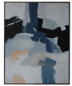 """""""Blue Haze"""" Framed Hand Painted Abstract Canvas Wall Art, No.1, 138cm"""
