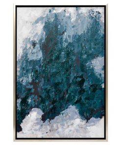 """Blurred Lines"" Framed Enhanced Canvas Wall Art Print, 95cm"