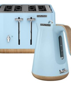 Morphy Richards Scandi Azure Aspect Toaster and Kettle Pack
