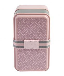 Ted Baker - Lunch Stack & Cutlery Set - Dusty Pink