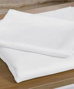 400TC 4 Pcs Natural Bamboo Cotton Bed Sheet Set in Size Double White