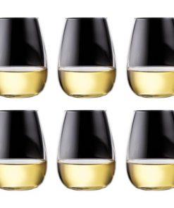 Alex Liddy Grand Cru 6 Piece Stemless White Wine Glass Set 550ml