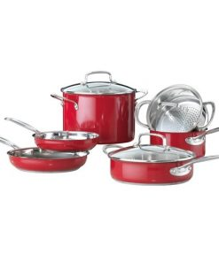 Baccarat Signature Stainless Steel 6 Piece Cookware Set Red