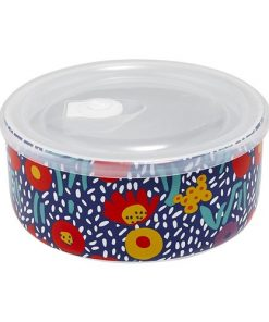 Ladelle Villa Blue Floral Microwave Food Bowl 16cm