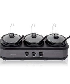 Westinghouse 3 Pot Slow Cooker Black