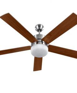 52'' Ceiling Fan w/Light Wall Control 2-sided Blades