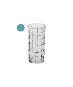 Time Square Crystal Highball Glass (Set of 6)