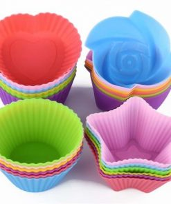 32PCS Silicone Cupcake Liners Reusable Baking Cups Nonstick Easy Clean Pastry Muffin Molds 4 Shapes