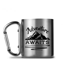 Adventure - Awaits Carabiners Mug