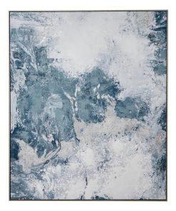 """""""Cloudy Sky I"""" Framed Textured Canvas Wall Art Print, 120cm"""